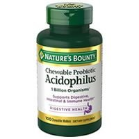 Nature's Bounty Acidophilus Chewable Probiotic Review