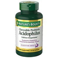 Nature's Bounty Acidophilus Chewable Probiotic Review